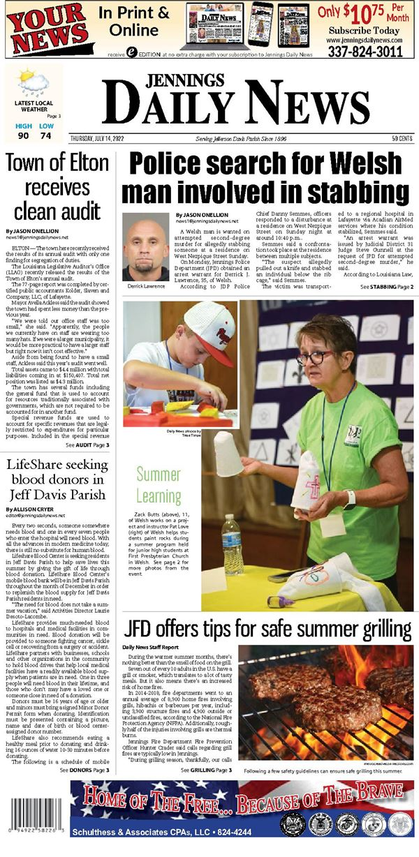 Jennings Daily News e-Edition