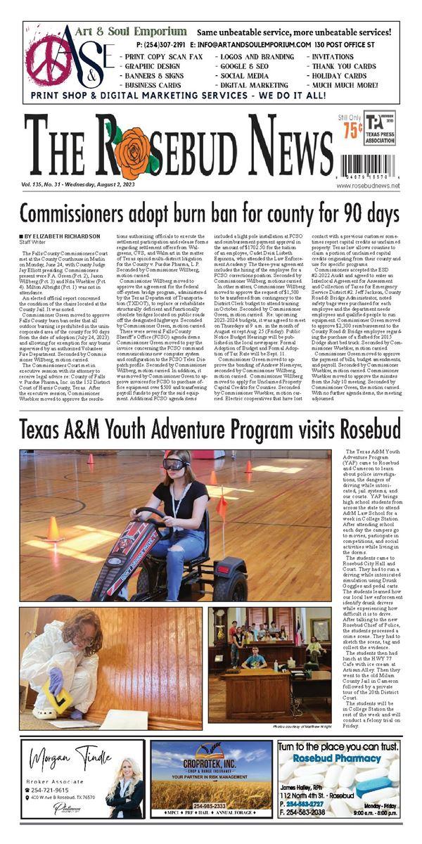 Rosebud News e-Edition