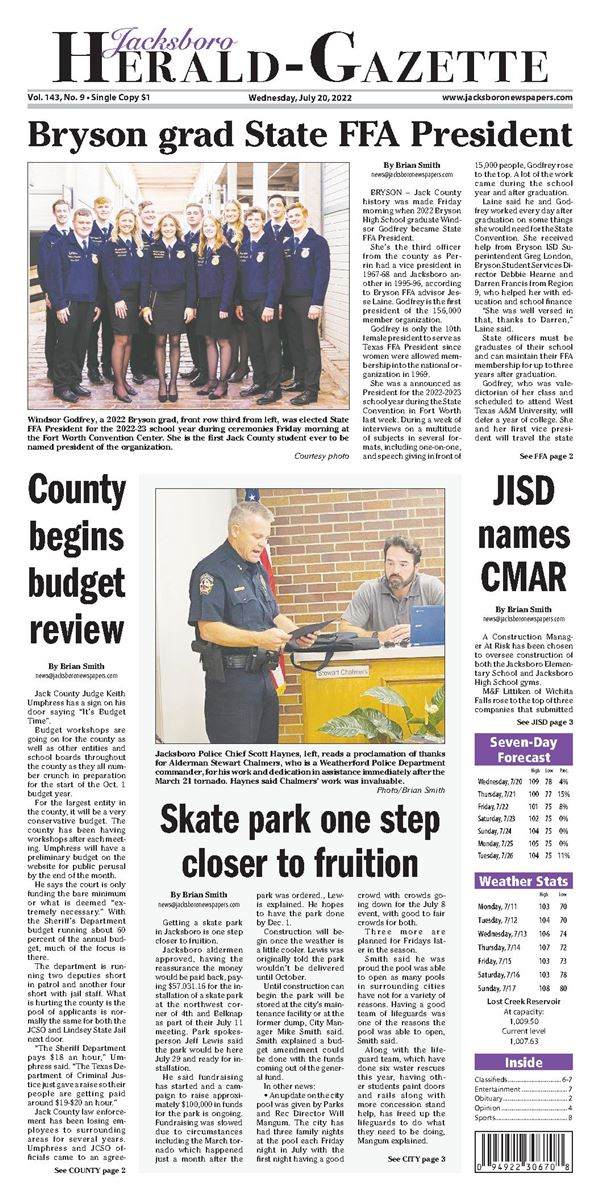 Jacksboro Newspapers e-Edition
