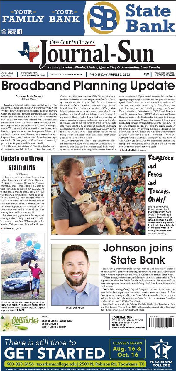 Cass County Citizens Journal Sun e-Edition