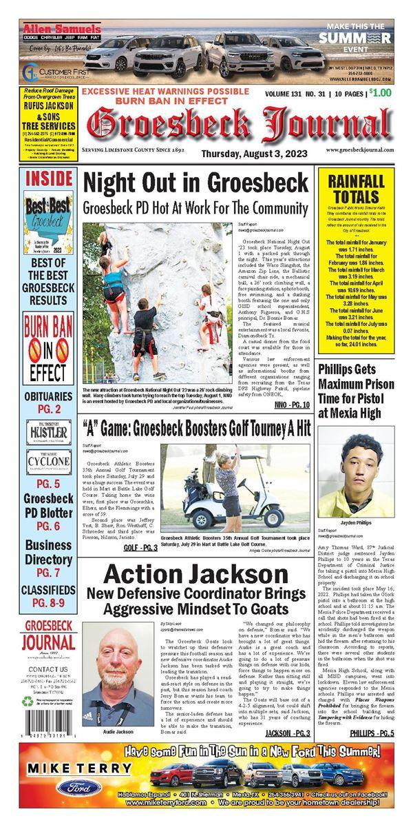Groesbeck Journal e-Edition