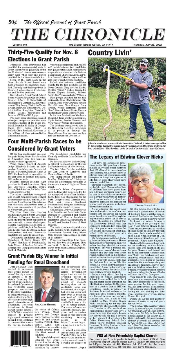 Colfax Chronicle e-Edition