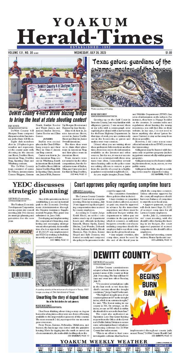 Yoakum Herald-Times e-Edition