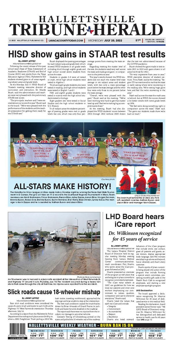 Hallettsville Tribune-Herald e-Edition