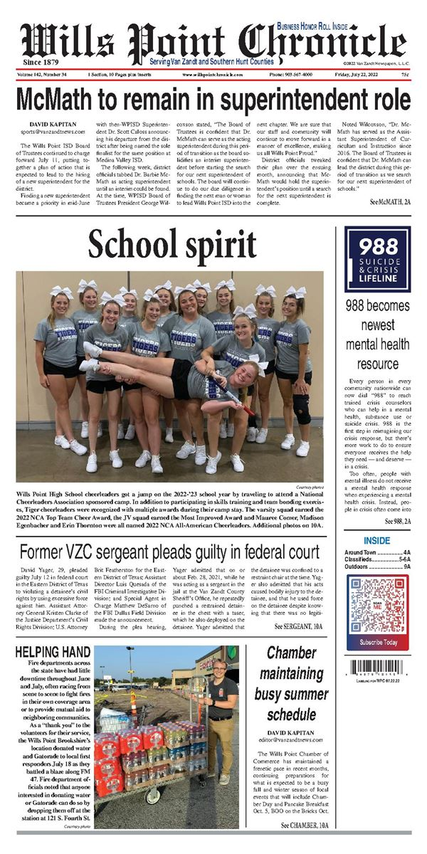Wills Point Chronicle e-Edition