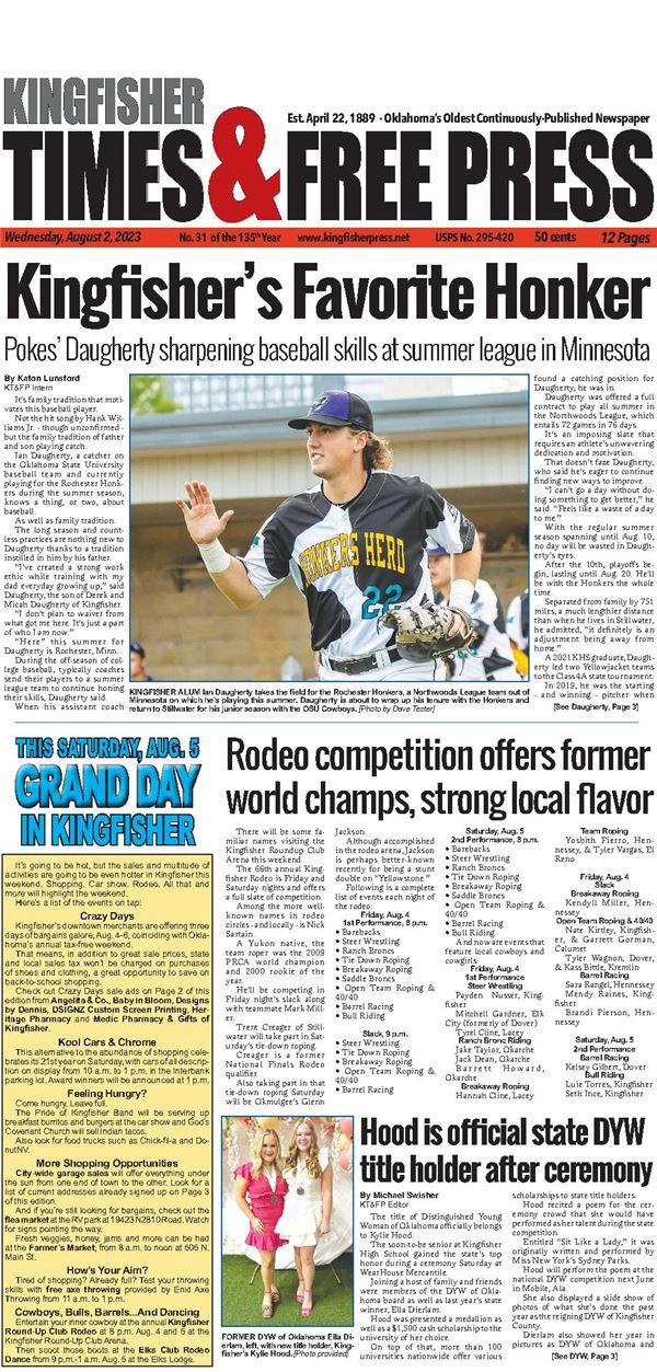 Kingfisher Times & Free Press e-Edition