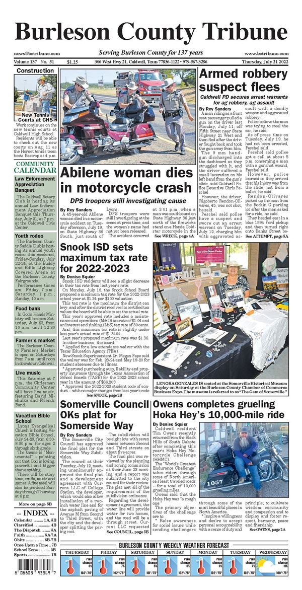 Burleson County Tribune e-Edition