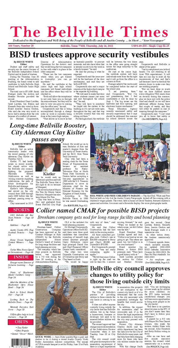 The Bellville Times e-Edition
