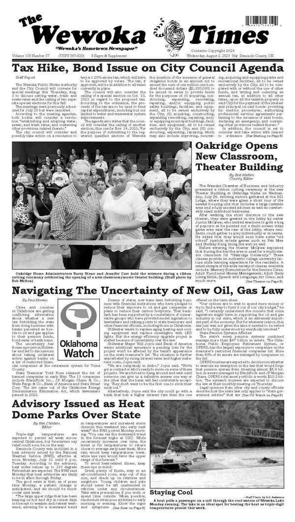Wewoka Times e-Edition