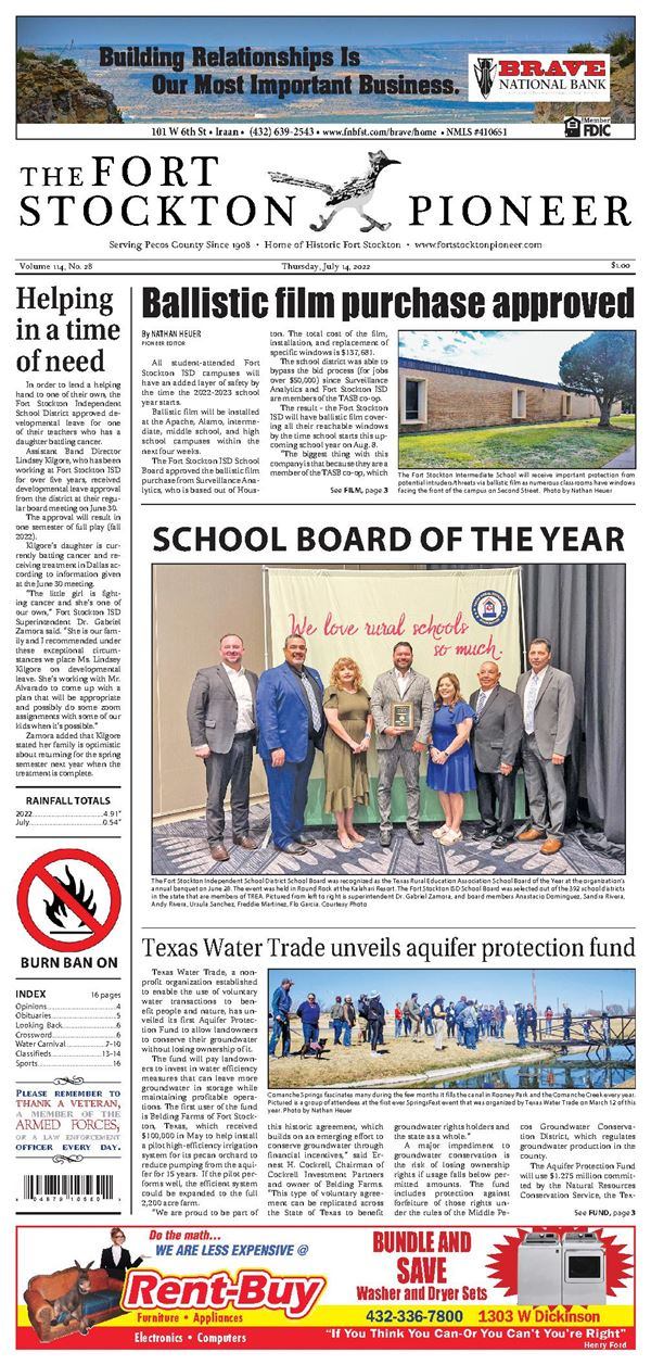 Fort Stockton Pioneer e-Edition