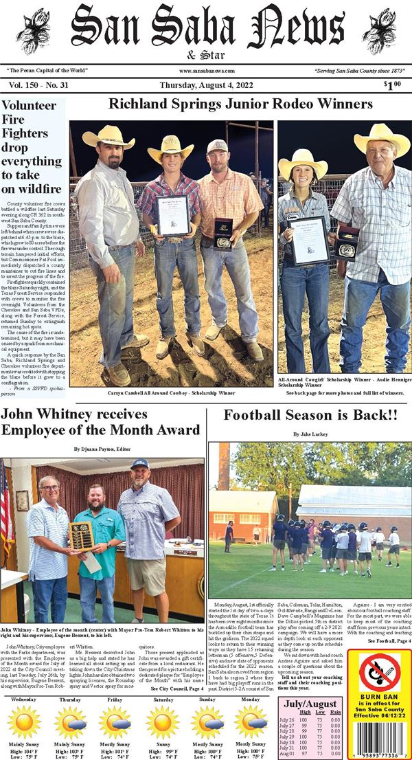 San Saba News & Star e-Edition